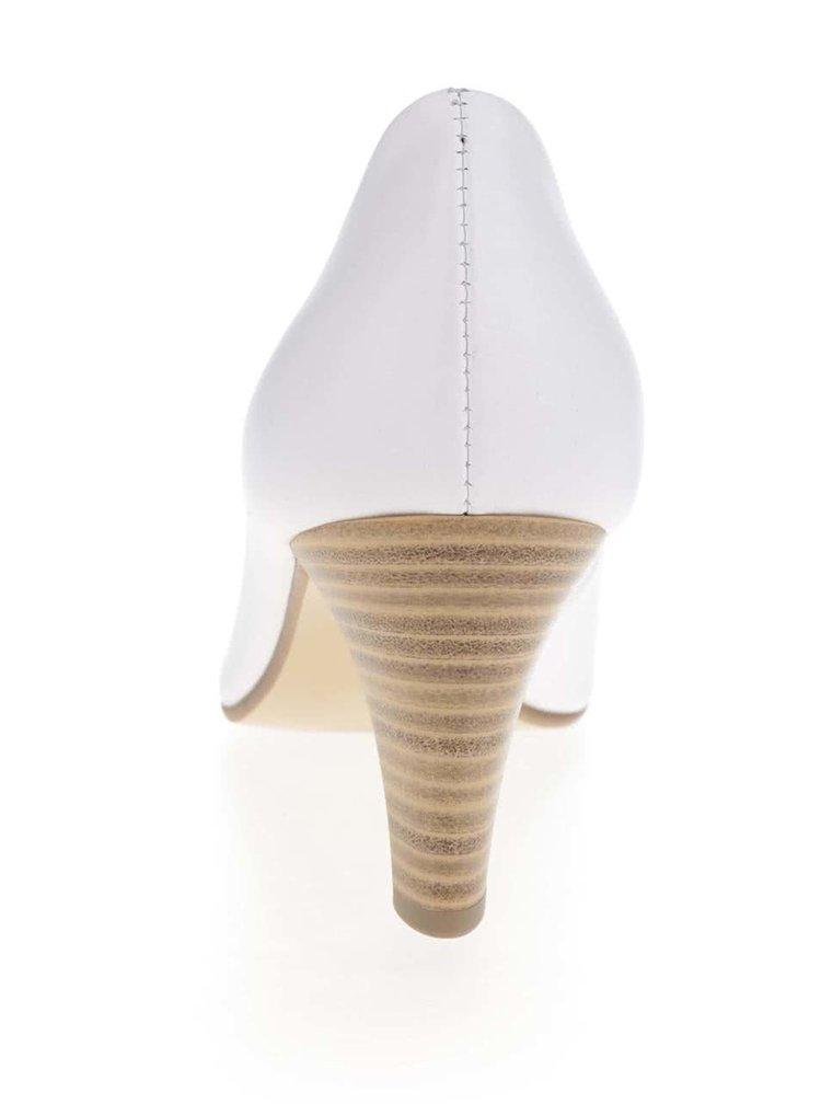 Pantofi albi cu toc s.Oliver din piele