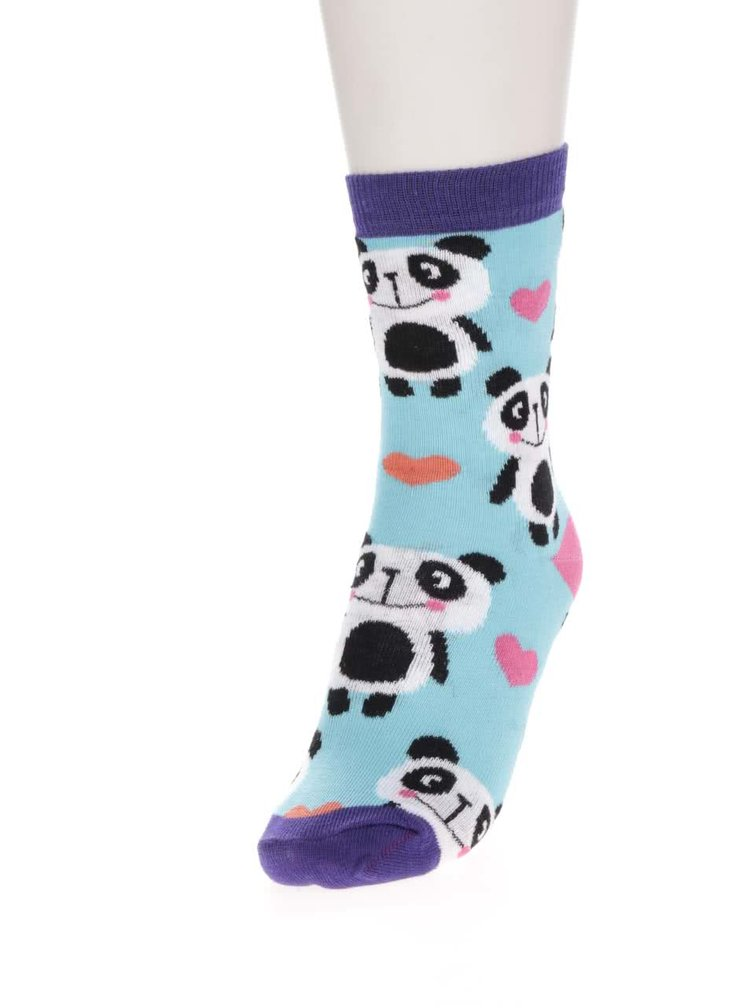 Sada šesti holčičích ponožek s motivy pandy Oddsocks Panda