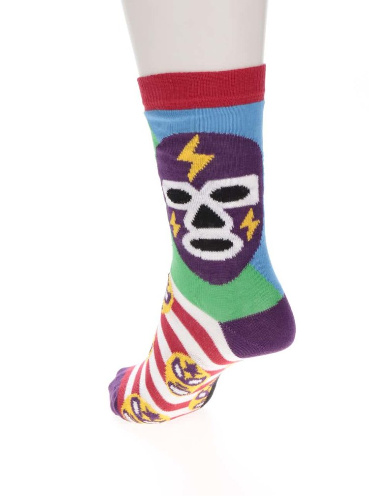Set de 3 sosete multicolore Oddsocks Mask cu model