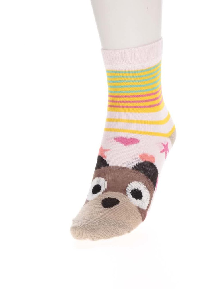 Set de 3 sosete multicolore Oddsocks Faces cu model