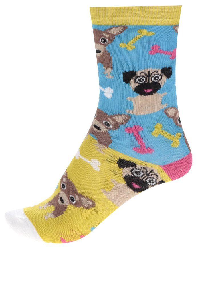 Set de 3 șosete multicolore Oddsocks Pugs cu model