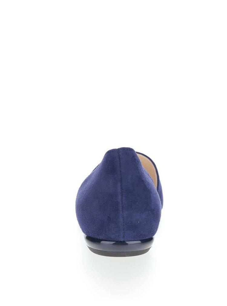 Tmavě modré semišové baleríny Högl