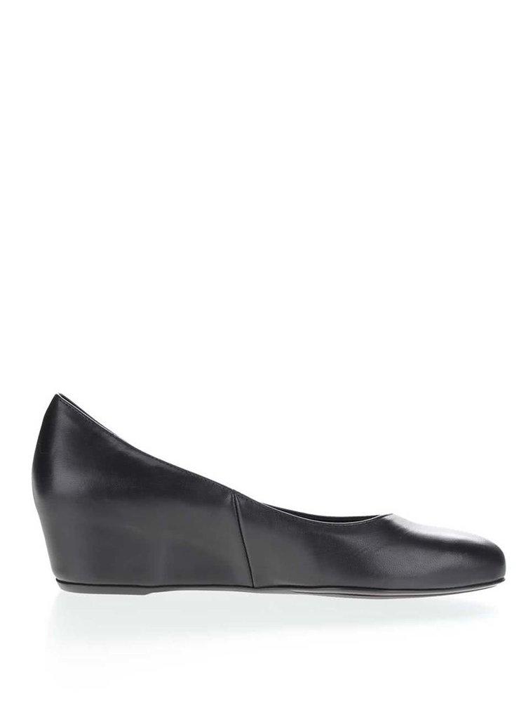 Pantofi negri Högl din piele cu platformă wedge ascunsă