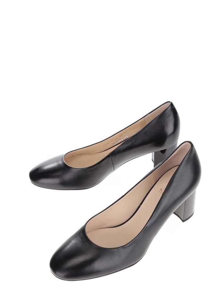 Pantofi negri din piele Högl cu toc masiv