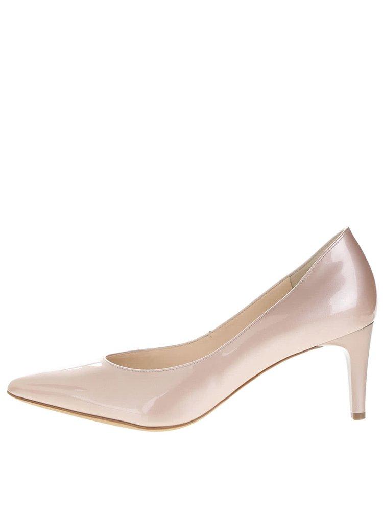 Pantofi roz pal din piele lăcuită Högl  cu toc cui