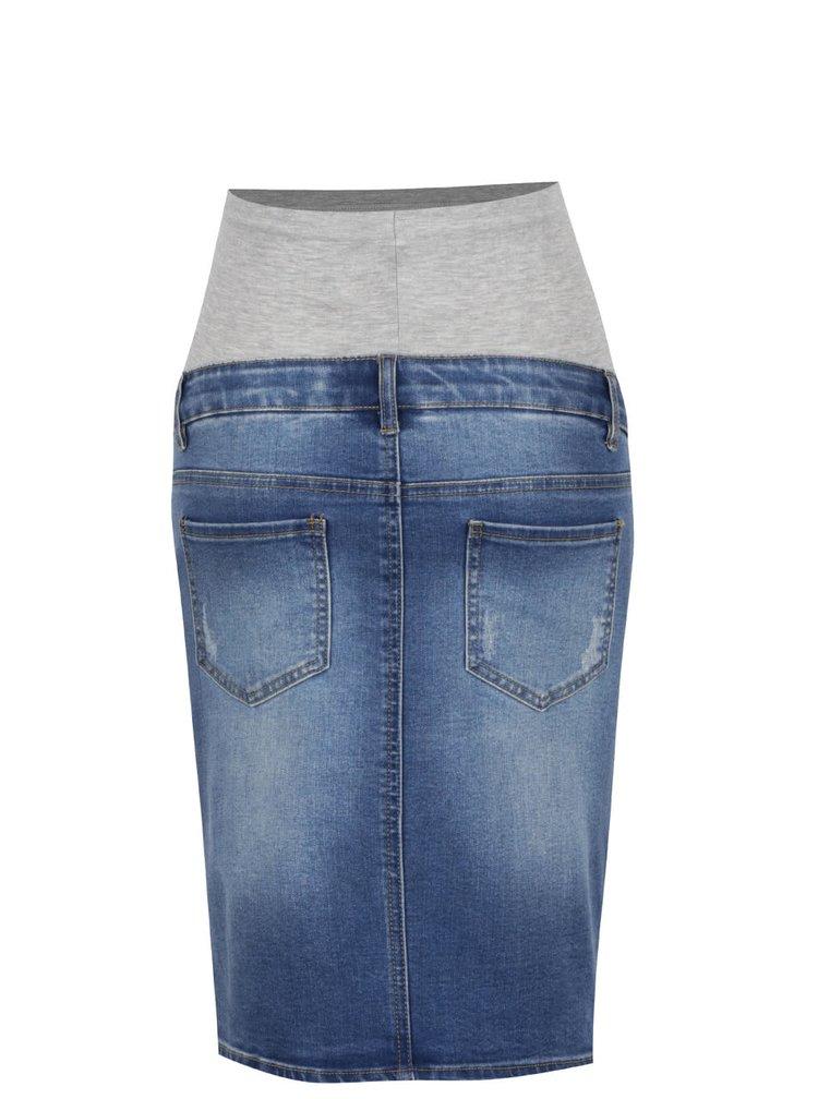 Modrá džínová těhotenská sukně Mama.licious Lexi