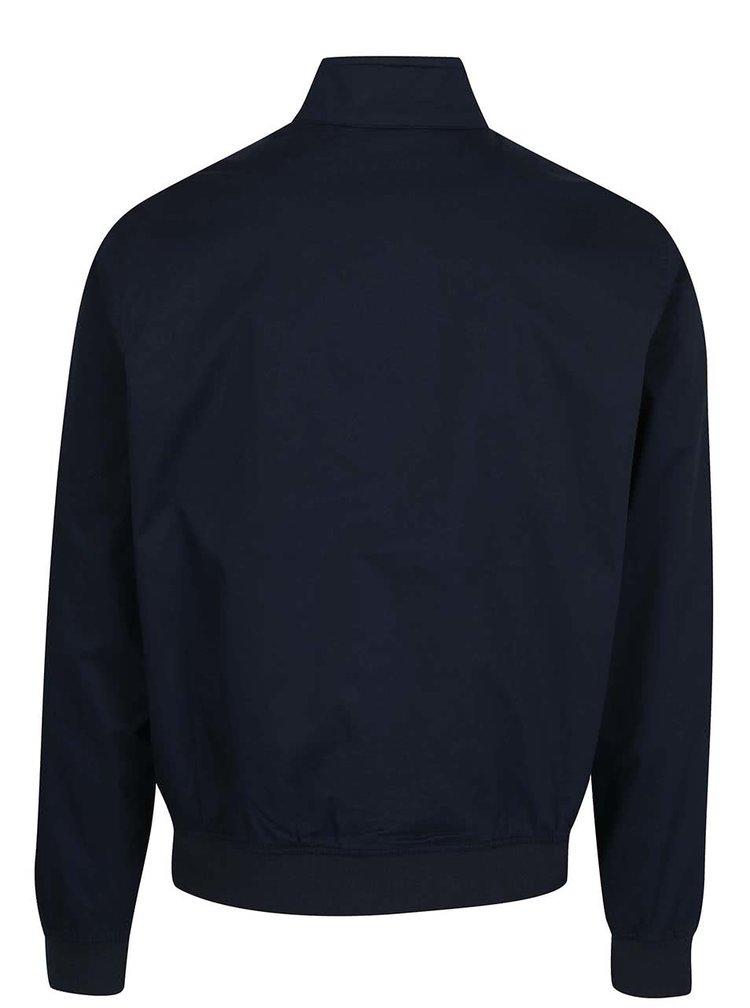 Jachetă subțire albastru închis Original Penguin Harrington cu guler înalt