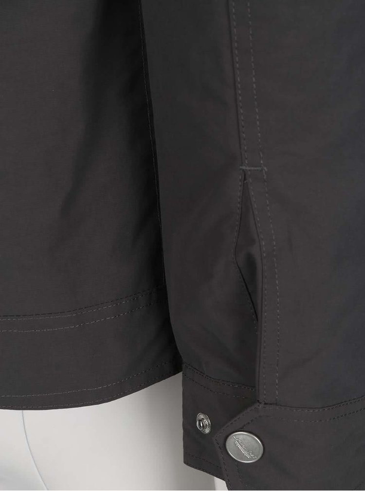 Jachetă gri Seven Seas Wales cu guler înalt