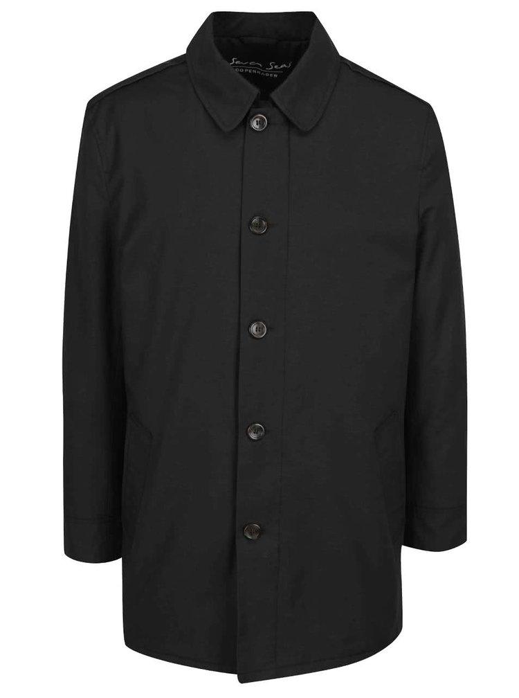 Palton negru Seven Seas Oxford
