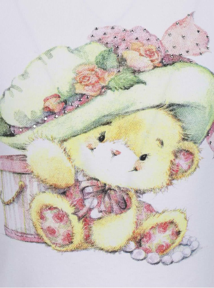 Top alb & roz Mix´n Match cu print și model floral