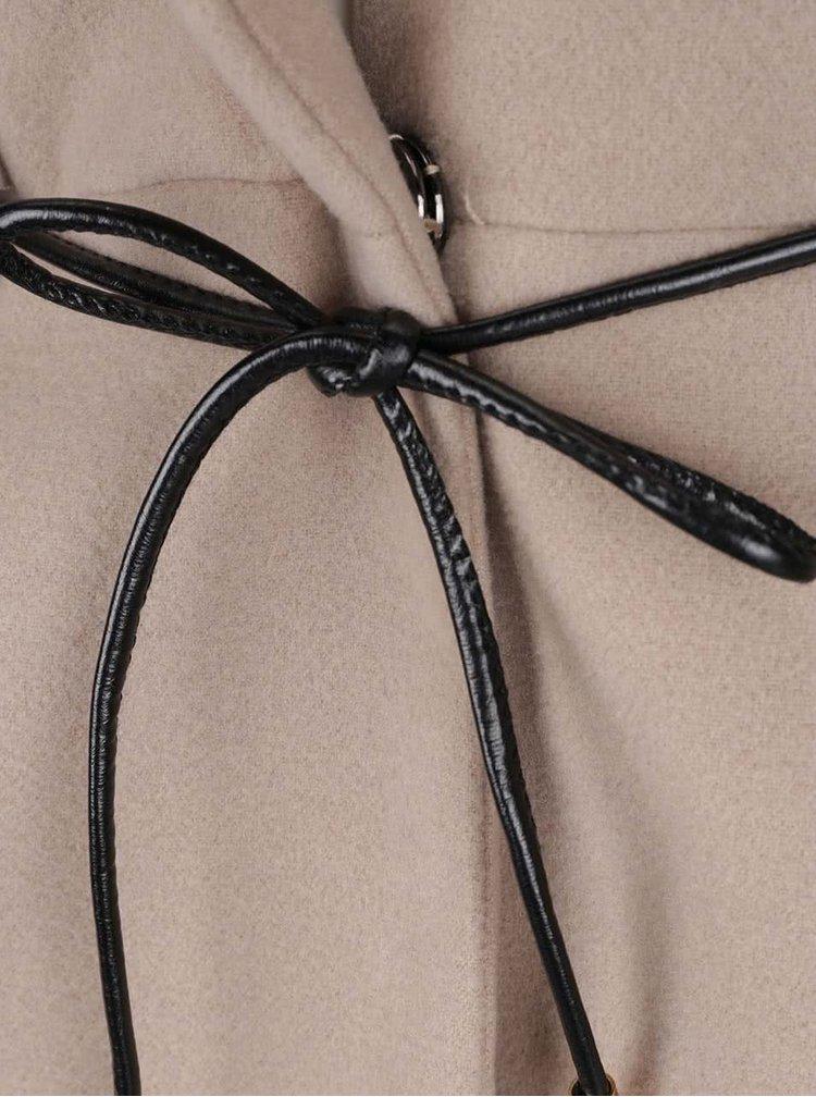 Palton bej ZOOT Simple cu guler cu revere