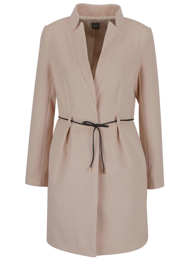 Světle hnědý kabát s tenkým páskem ZOOT