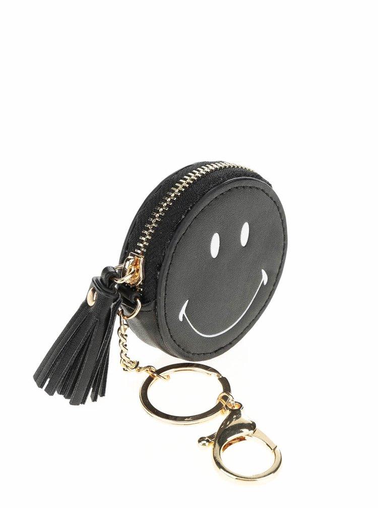 Černá kulatá peněženka se smajlíkem TALLY WEiJL