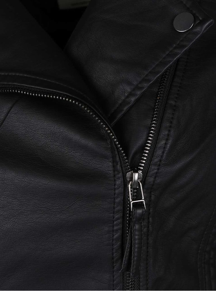 Jacheta neagra TALLY WEiJL din piele sintetica