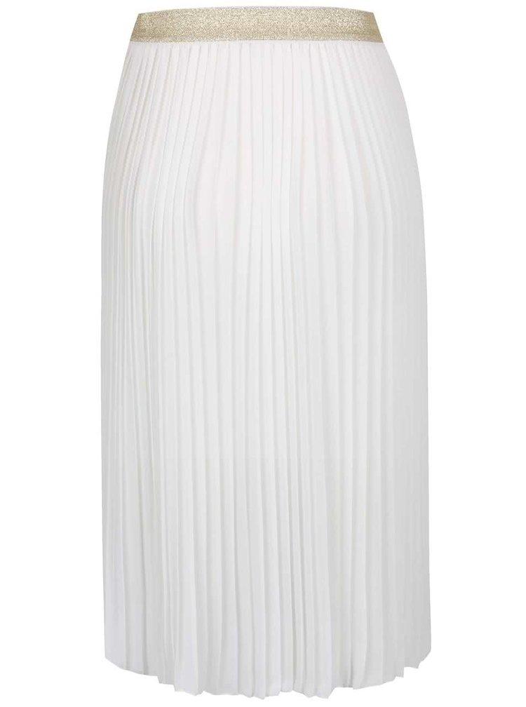 Krémová plisovaná sukně TALLY WEiJL