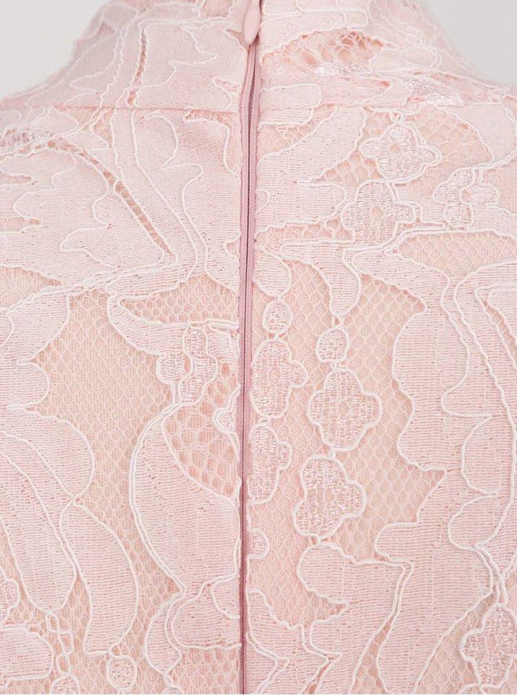 Rochie roz pal AX Paris din dantelă