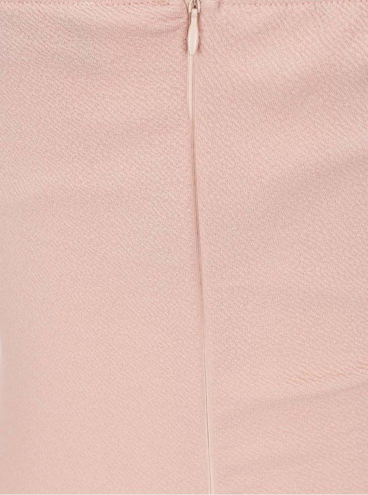 Růžové šaty s chokerem AX Paris