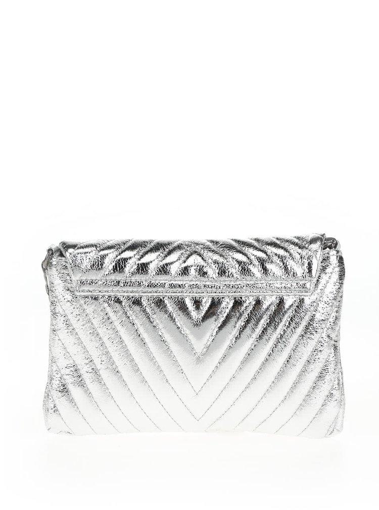 Dámská malá prošívaná crossbody kabelka/psaníčko ve stříbrné barvě TALLY WEiJL