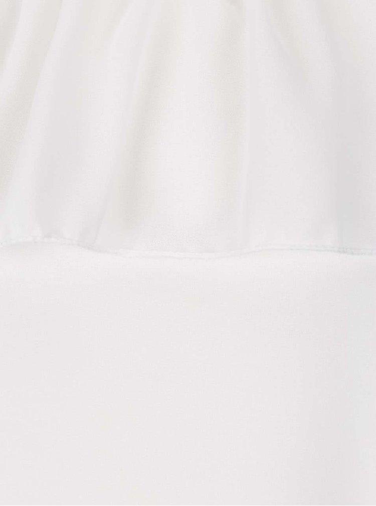 Krémová halenka s průstřihy na ramenou Haily's Jana