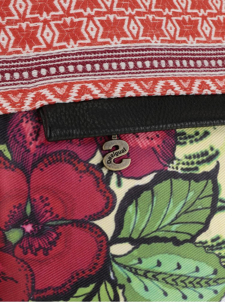 Bílá crossbody kabelka s barevným vzorem Desigual Folded Madeira