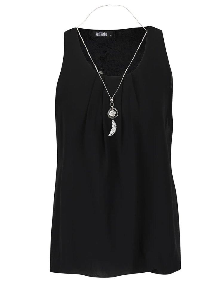 Černá halenka s náhrdelníkem Haily's Ellen S