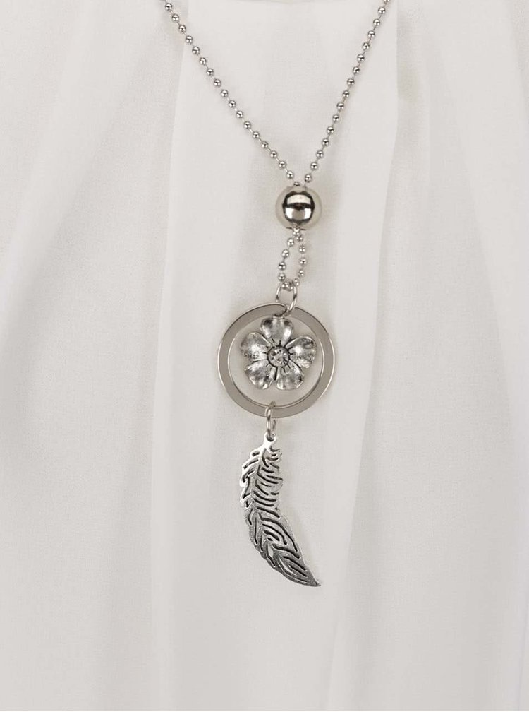 Krémová halenka s náhrdelníkem Haily's Ellen S