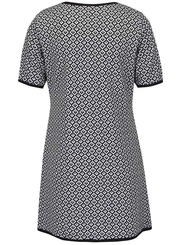 Černo-bílé vzorované minišaty Billie & Blossom