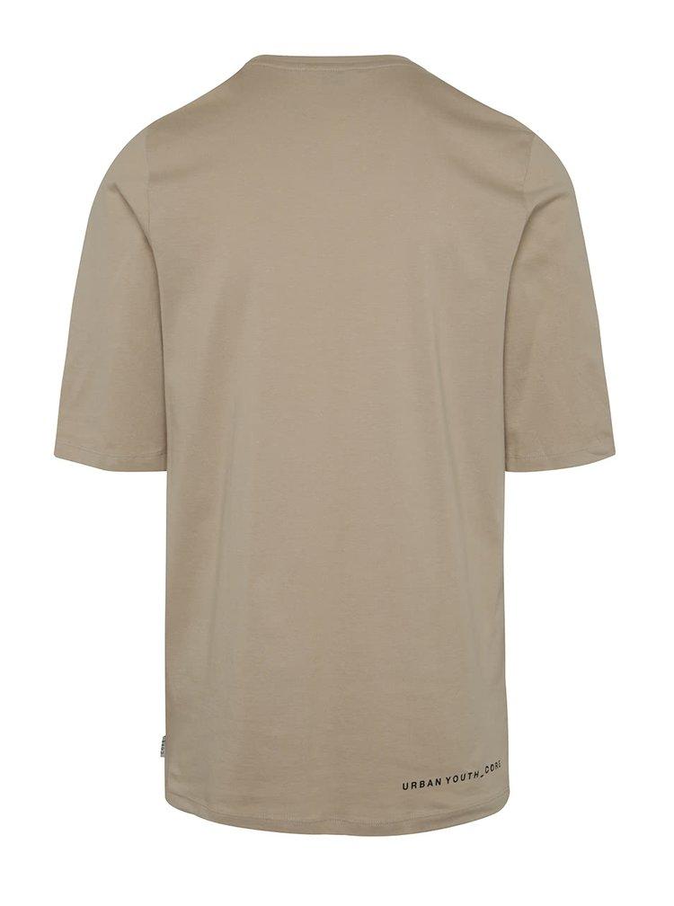 Béžové triko s potiskem Jack & Jones Era