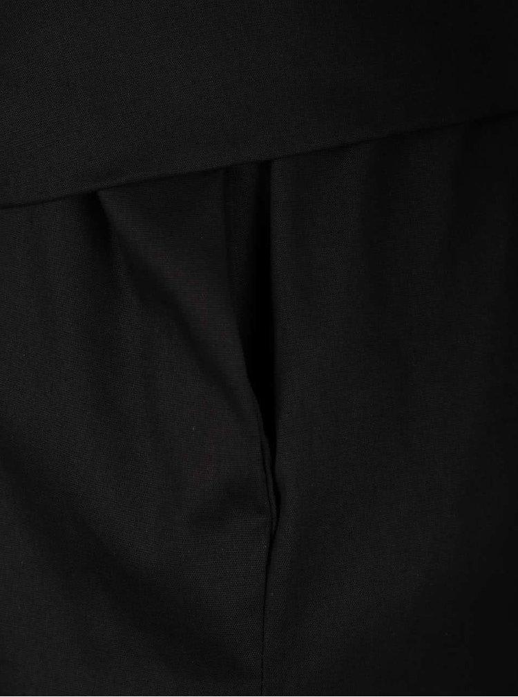 Černá tunika s vázankou a kapsami ZOOT