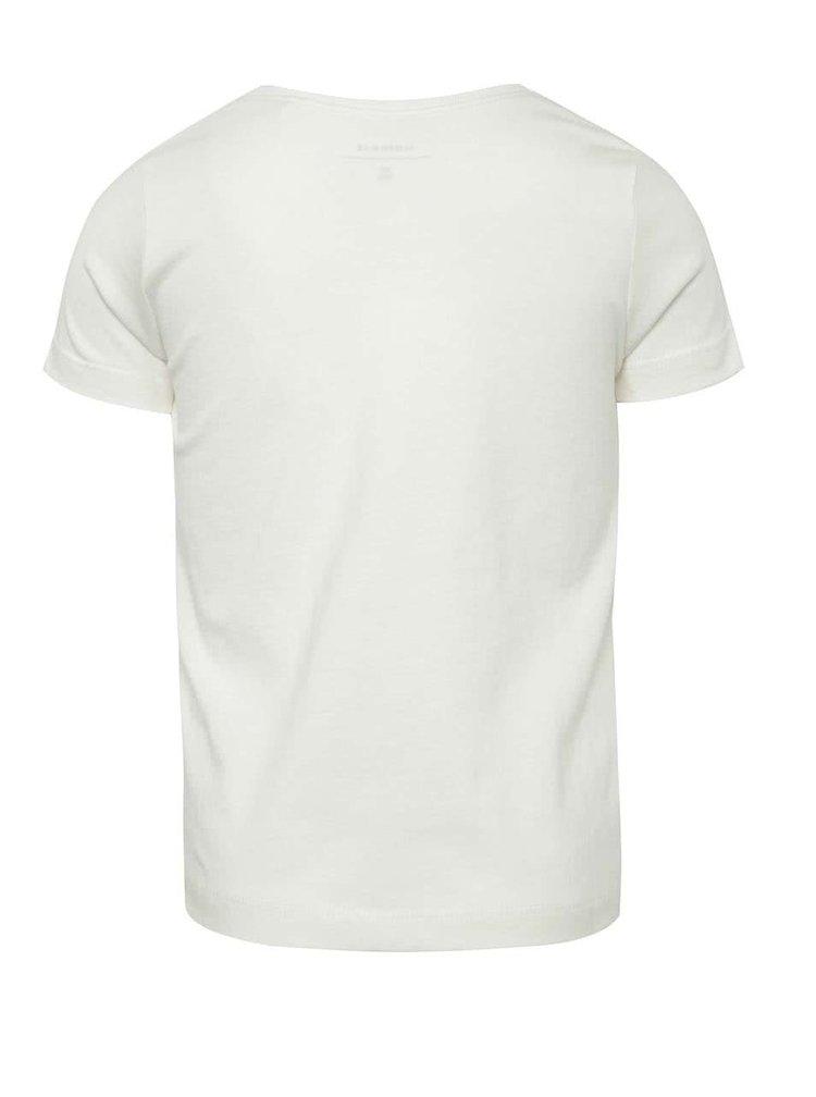 Krémové holčičí tričko s potiskem name it Veeny