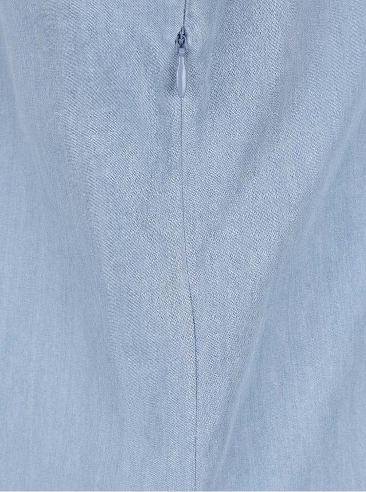 Světle modré džínové šaty s krátkým rukávem Brakeburn