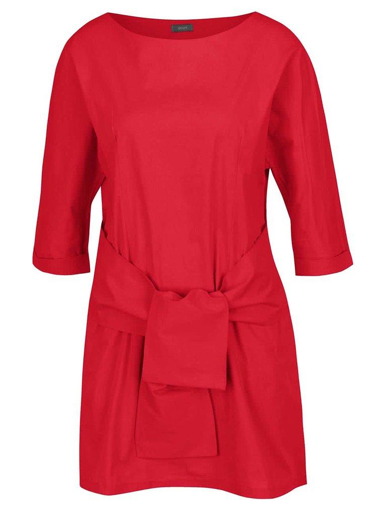 Červená tunika s vázankou a kapsami ZOOT
