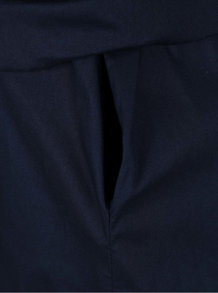 Tmavě modrá tunika s vázankou a kapsami ZOOT