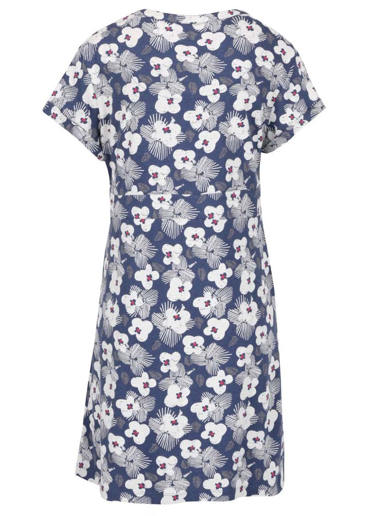 Tmavě modré květované šaty s véčkovým výstřihem Brakeburn