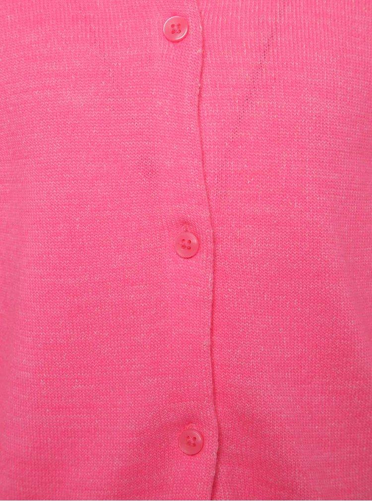 Růžový holčičí svetr s knoflíky name it Galin
