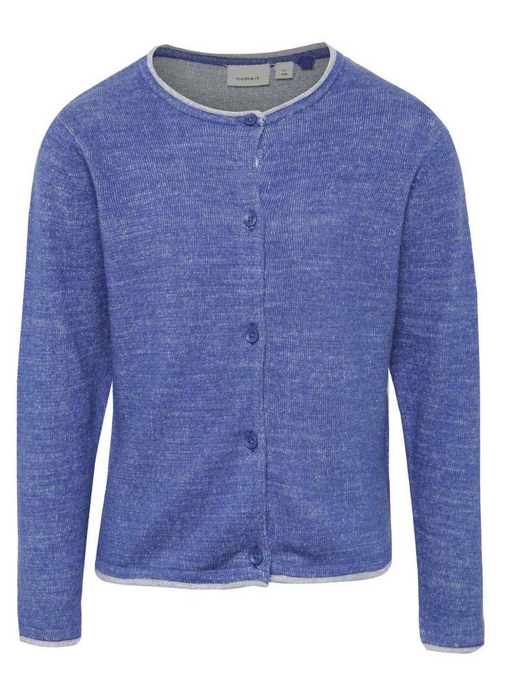 Modrý holčičí svetr s knoflíky name it Galin