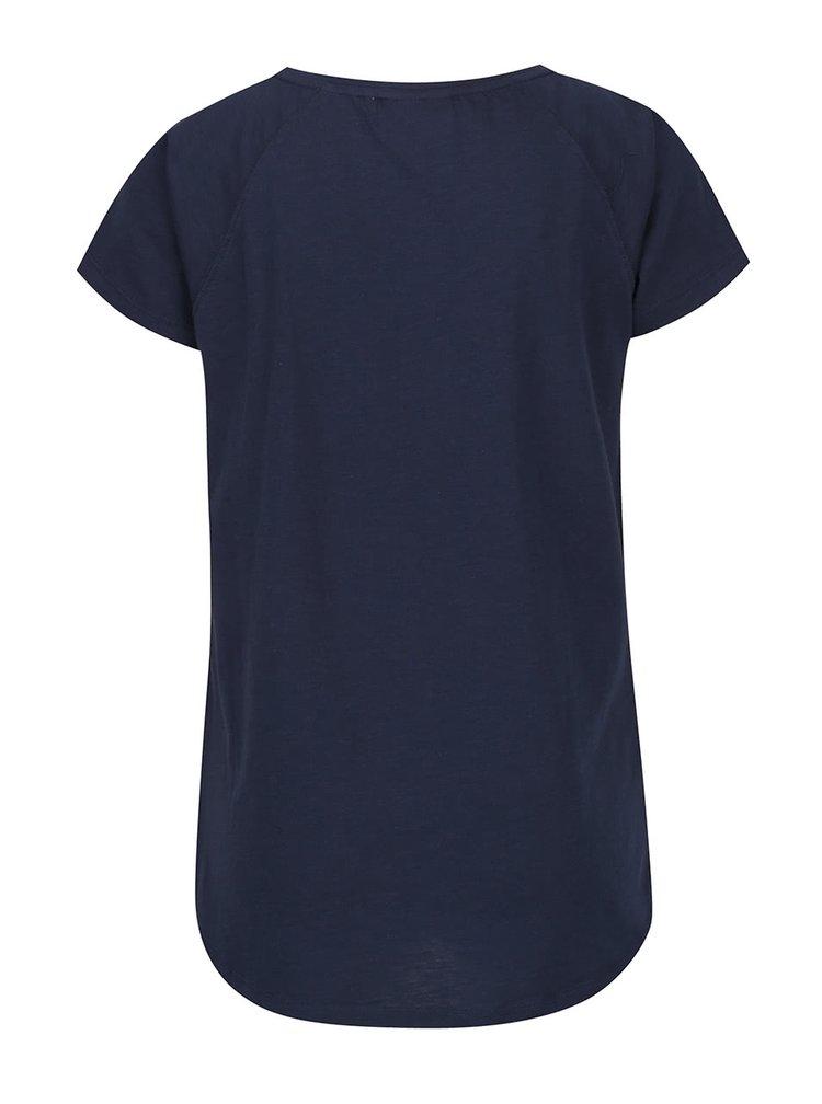 Tmavě modré tričko se vzorem plachetnic Brakeburn
