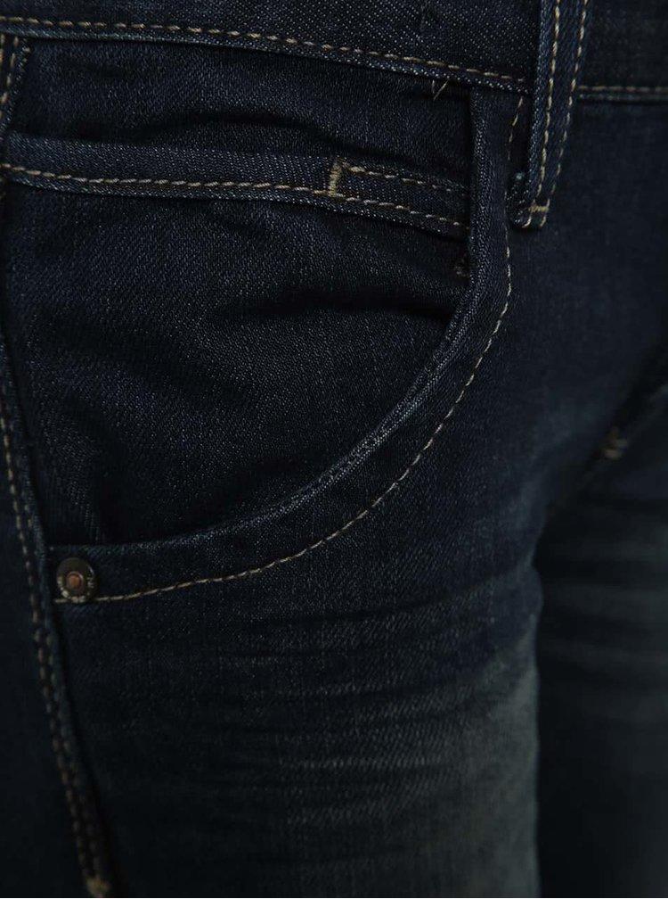 Tmavě modré klučičí slim džíny s vyšisovaným efektem name it Tim