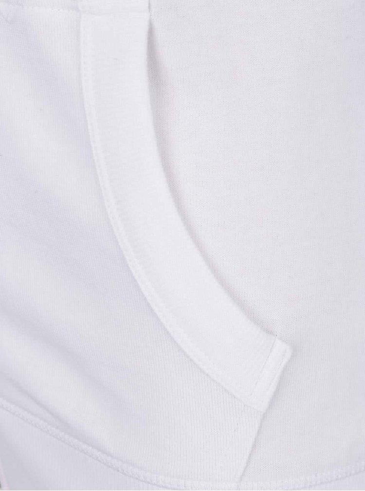 Hanorac alb & albastru Superdry regular fit cu model în dungi și logo