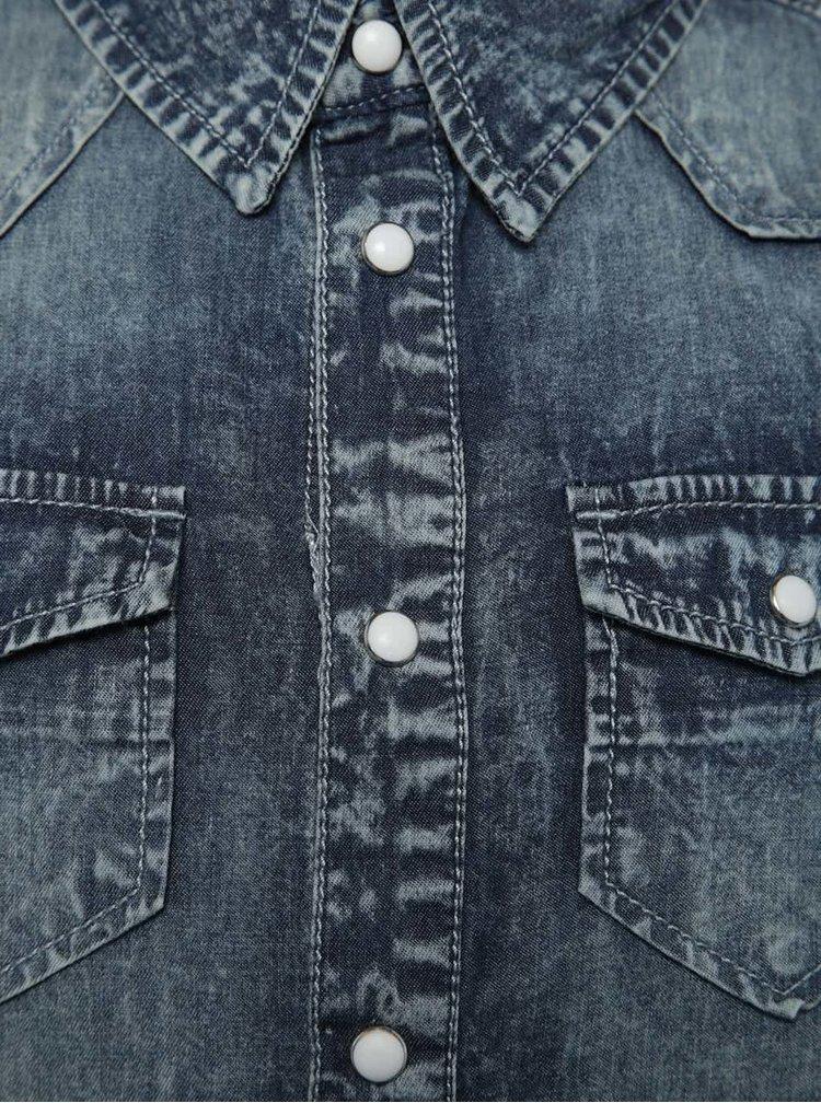 Tmavě modrá klučičí džínová košile name it Acarls