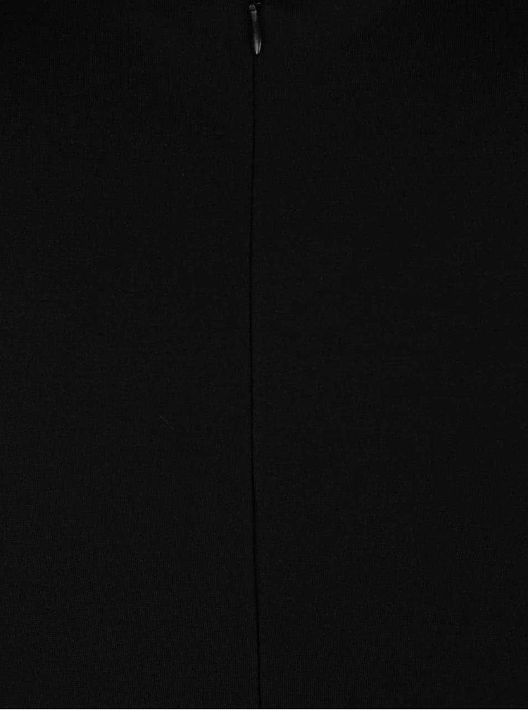 Rochie neagra ZOOT cu decolteu petrecut in V