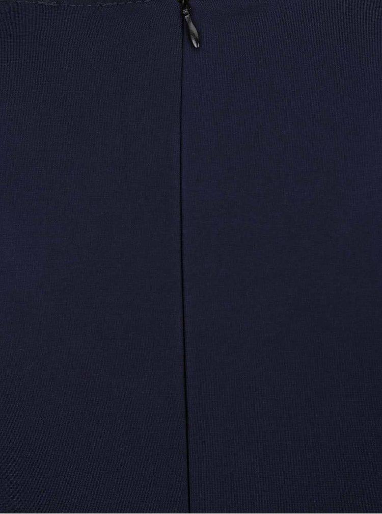 Rochie bleumarin ZOOT cu decolteu petrecut în V