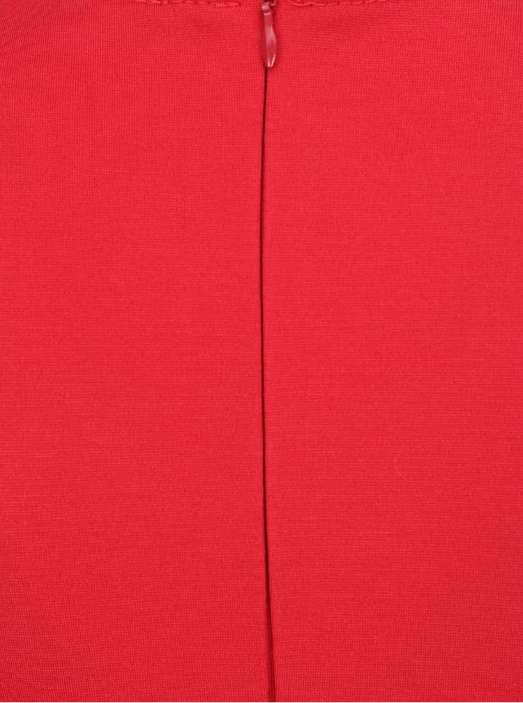 Rochie rosie ZOOT cu decolteu petrecut in V