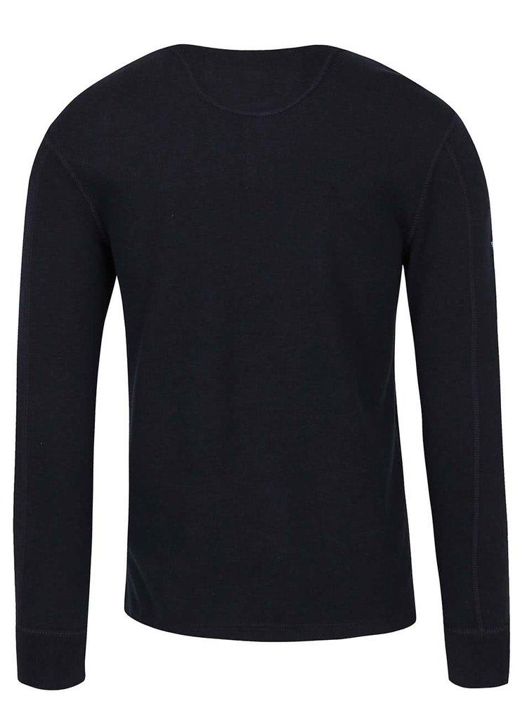 Tmavě modré pánské triko s dlouhým rukávem Superdry