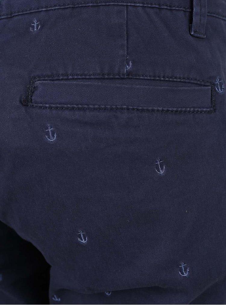 Tmavě modré 3/4 kalhoty Brakeburn