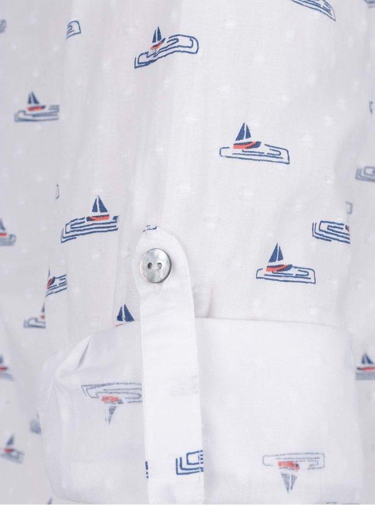 Bílá halenka se vzorem plachetnic Brakeburn