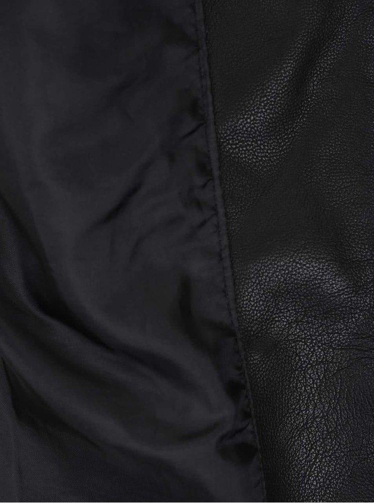 Jacheta neagra Noisy May Core din piele sintetica