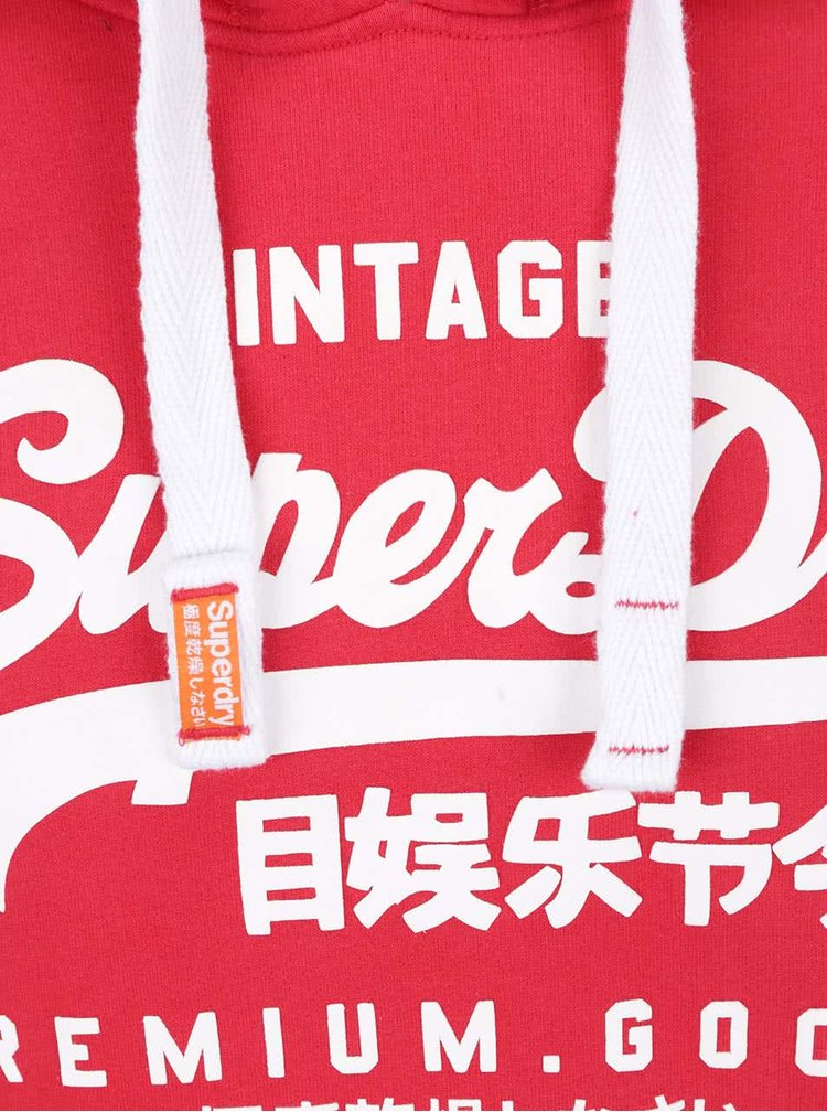 Hanorac roșu Superdry cu print