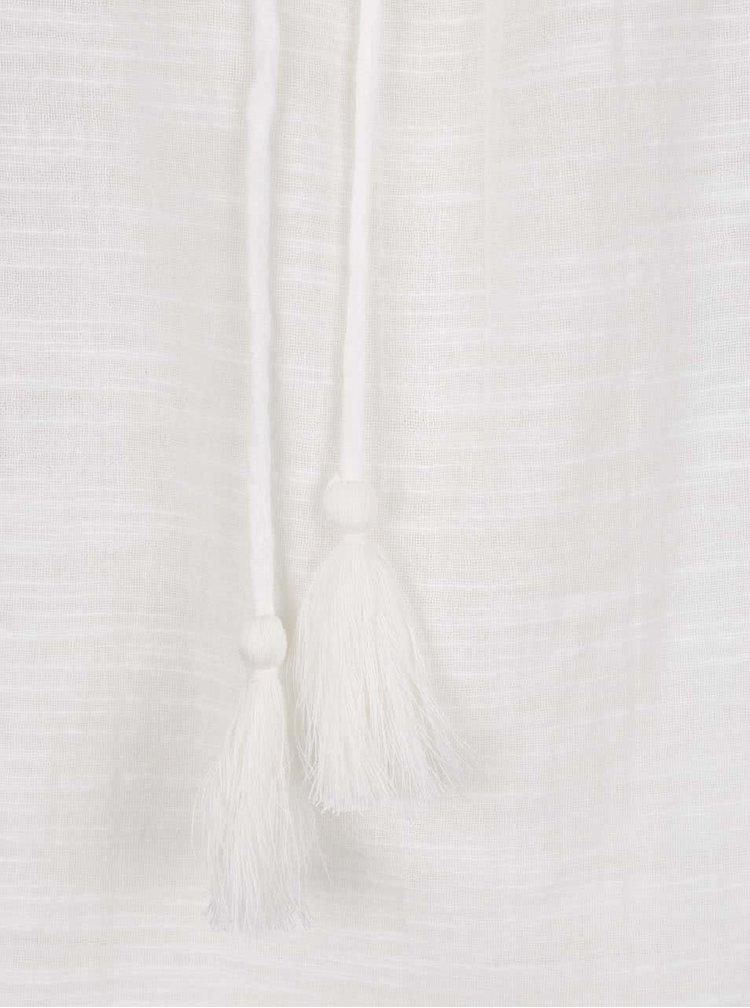 Krémový top se zavazováním v dekoltu Vero Moda Ina