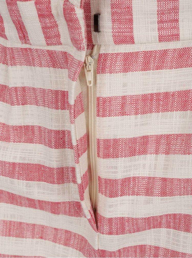 Růžové pruhované kraťasy VERO MODA Laura